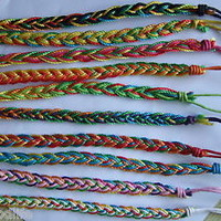Lot 20 pcs Colourful Thread HandMade Surfer Woven Friendship Bracelet A2420