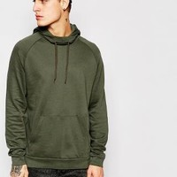 ASOS | ASOS Funnel Hoodie In Green at ASOS