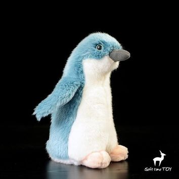 Blue Penguin Stuffed Animal Plush Toy 7""