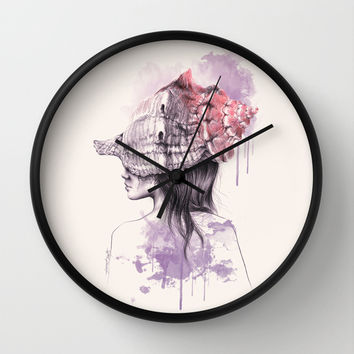 Inside my shell Wall Clock by EDrawings38