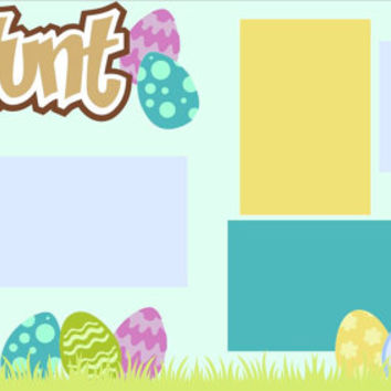 Scrapbook Page Kit or Premade Layout 12X12 2-Page Easter-Egg Hunt Boy