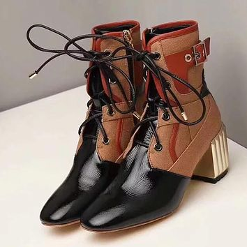 Dior Women Fashion Casual High Heels Shoes Boots Shoes