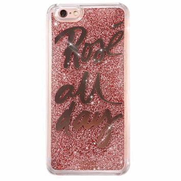 Rose All Day Glitter iPhone Case