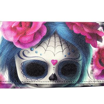 Liquorbrand Goth Emo Dark Dreams Sugar Skull Doll Wallet