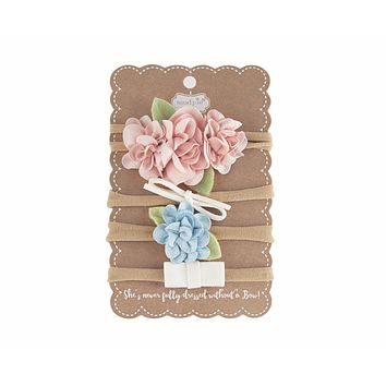 MUD PIE GARDEN ROSE MINI BOWS