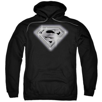 Superman - Bling Shield Adult Pull Over Hoodie
