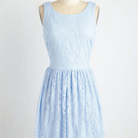 Pastel Mid-length Sleeveless A-line Dream Design Dress in Periwinkle