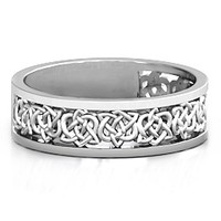 Half Eternity Celtic Ring