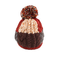 Infant Baby Winter Warm Knitting Baby Beanie Hat Brown