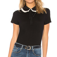 Red Valentino Collar Detail Top in Nero | REVOLVE