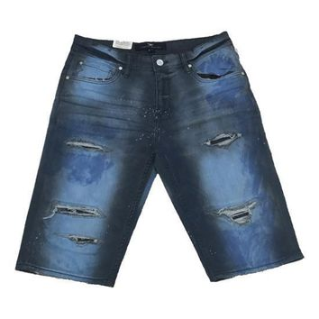 Jordan Craig - Mens - Distressed Denim Shorts
