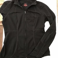 EUC Zella Nordstrom Full Zip Black Athletic Fitted Jacket Medium