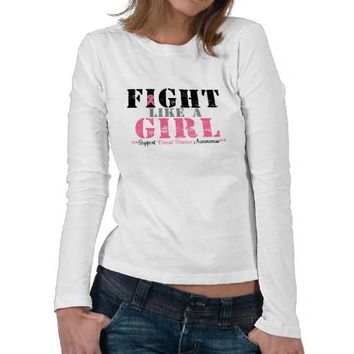 Breast Cancer FIGHT Like a GIRL T Shirts from Zazzle.com