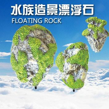Artificial Floating Pumice Suspended Stone Aquarium Fish Tank Decoration Moss flying Rock aquatic ornament Landscape acuario