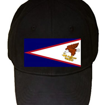 American Samoa - World Country National Flags - 100% Cotton Adjustable Hat