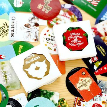 VONC1Y 2 Style 45 Pieces Christmas Stickers Pack Post it Kawaii Planner Scrapbooking Sticky Stationery Escolar 2016 New School Supplies