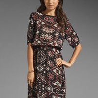 SAM&LAVI Farrah Dress in Ikat Amor from REVOLVEclothing.com