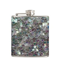 Sparkly colourful silver mosaic look: flask by PLdesign