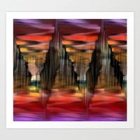Surreal City Abstract Art Print by Jennifer Warmuth Art And Design