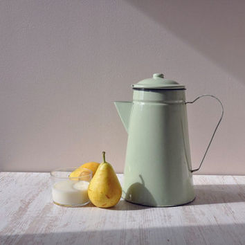 Mint green French Tea pot