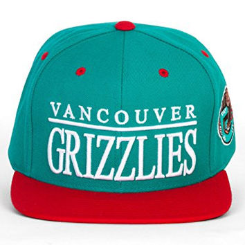 Mitchell & Ness Vancouver Grizzlies Top Shelf Two-Tone Teal/Red Snapback