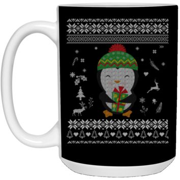 Cute Penguin Ugly Christmas Sweater 21504 15 oz. White Mug