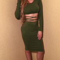 Cross Your Heart Two-Piece Dress by Reverse (more colors)