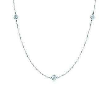 Tiffany & Co. - Elsa Peretti® Diamonds by the Yard® necklace in platinum.