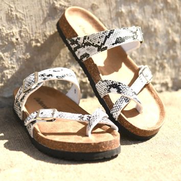 Out Of Time Sandals - Snake