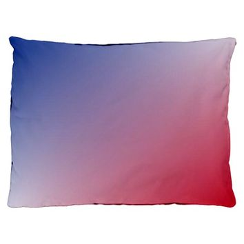 red white blue ombre Dog Bed