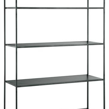 Slim Bookcases in Natural Steel