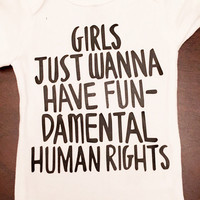 Girls just wanna have fundamental human rights, cindi lauper, equal rights, feminist, anti discrimination, gender roles, activist