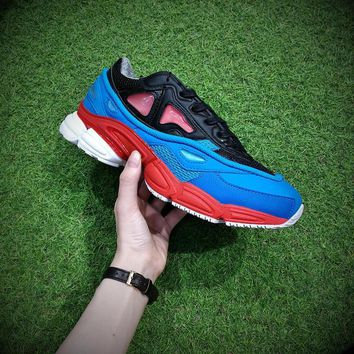 PEAPON Raf Simons x Adidas Consortium Ozweego 2 Black Red Lucora 2018 Women Men Casual Trending Running Sneakers
