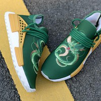 [Free Shipping ]Adidas NMD Human Race x Dragon Ball  Green Running Shoes