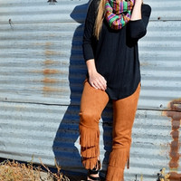 Rust Fringe Forever Pants by Crazy Train