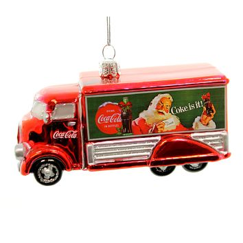 Holiday Ornaments Coca-Cola Truck Glass Ornament