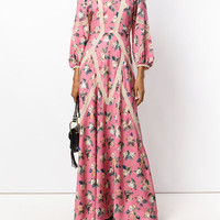 Vilshenko long-sleeved Floral Gown - Farfetch