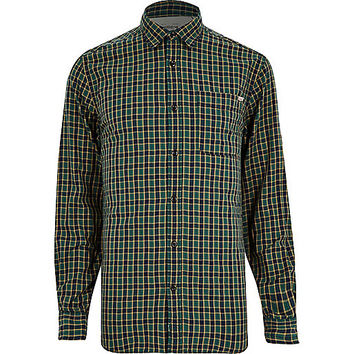 River Island MensGreen Jack & Jones Vintage check shirt