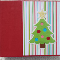 6x6 Chipboard Christmas Holiday Scrapbook Photo Album