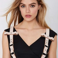 Nasty Gal Hold Up Leather Harness