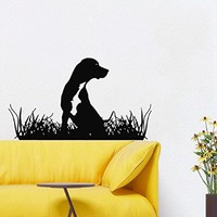 Wall Decals Vinyl Decal Sticker Animals Dog Cute Puppy Pets Grooming Salon Pet Shop Kids Nursery Baby Boy Girl Room Decor Interior Design Kg864