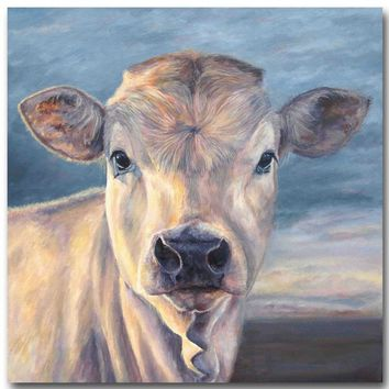 Frameless printed Artwork High Quality Modern Wall Art On Canvas Animal Oil Painting Cow Hang Pictures For Room Decor
