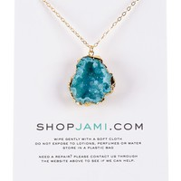 Dipped Geode Necklace