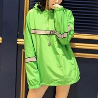 """Supreme"" Women Fashion Multicolor Letter Print Long Sleeve Hoodie Sun Protection Clothing Tops"