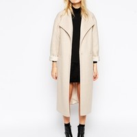 ASOS Duster Coat In Textured Wool