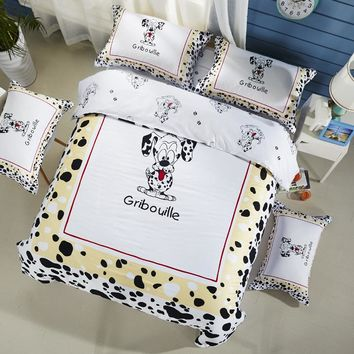 Svetanya Cartoon Bedlinen Dog Print Bedding Sets Duvet Cover Set Full Queen King Size for Kids Teens Adults 100% Cotton