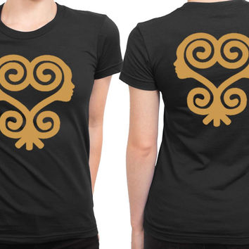 Sankofa T Shirt African Symbols Adinkra T Shirt 2 Sided Womens T Shirt