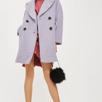 Alicia Boucle Textured Slouch Coat | Topshop
