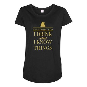 i drink Maternity Scoop Neck T-shirt