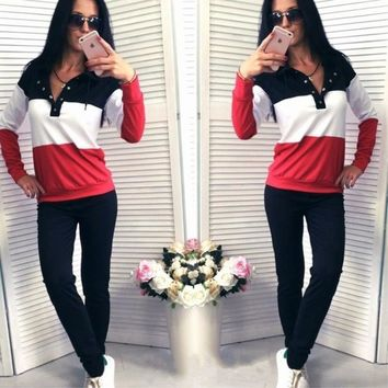 Women's Fashion Long Sleeve Hoodies Casual Bottom & Top [11535889670]